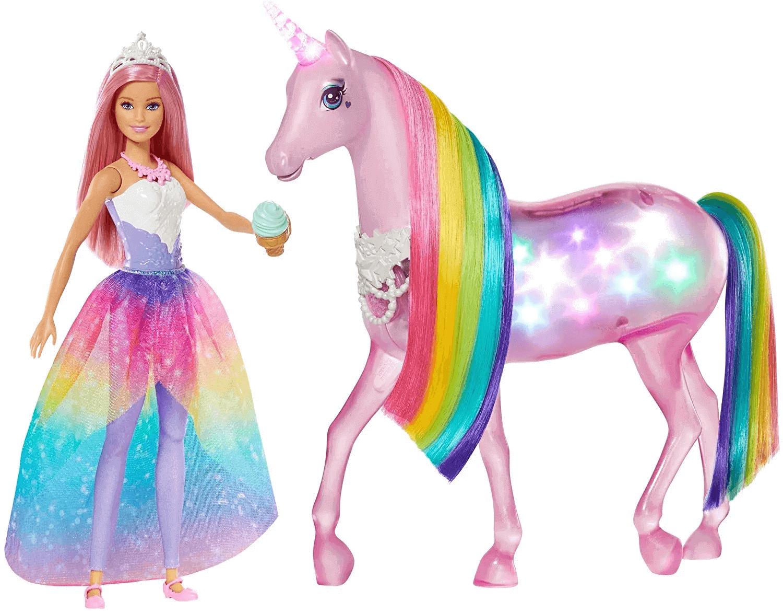 Boneca Barbie Dreamtopia Unicórnio Luzes Mágicas FXT26 Mattel