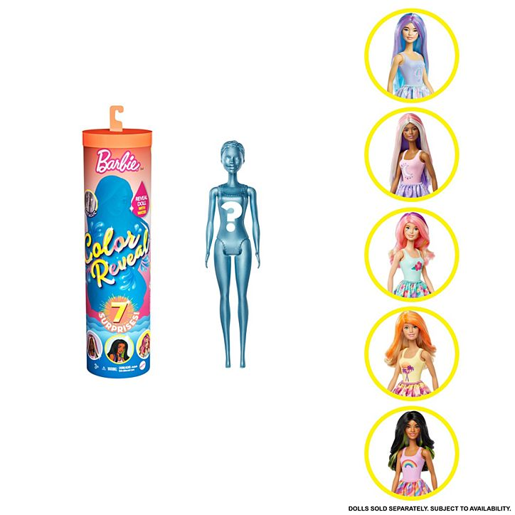 Boneca Barbie Estilo Surpresa Color Reveal GTP42 Mattel