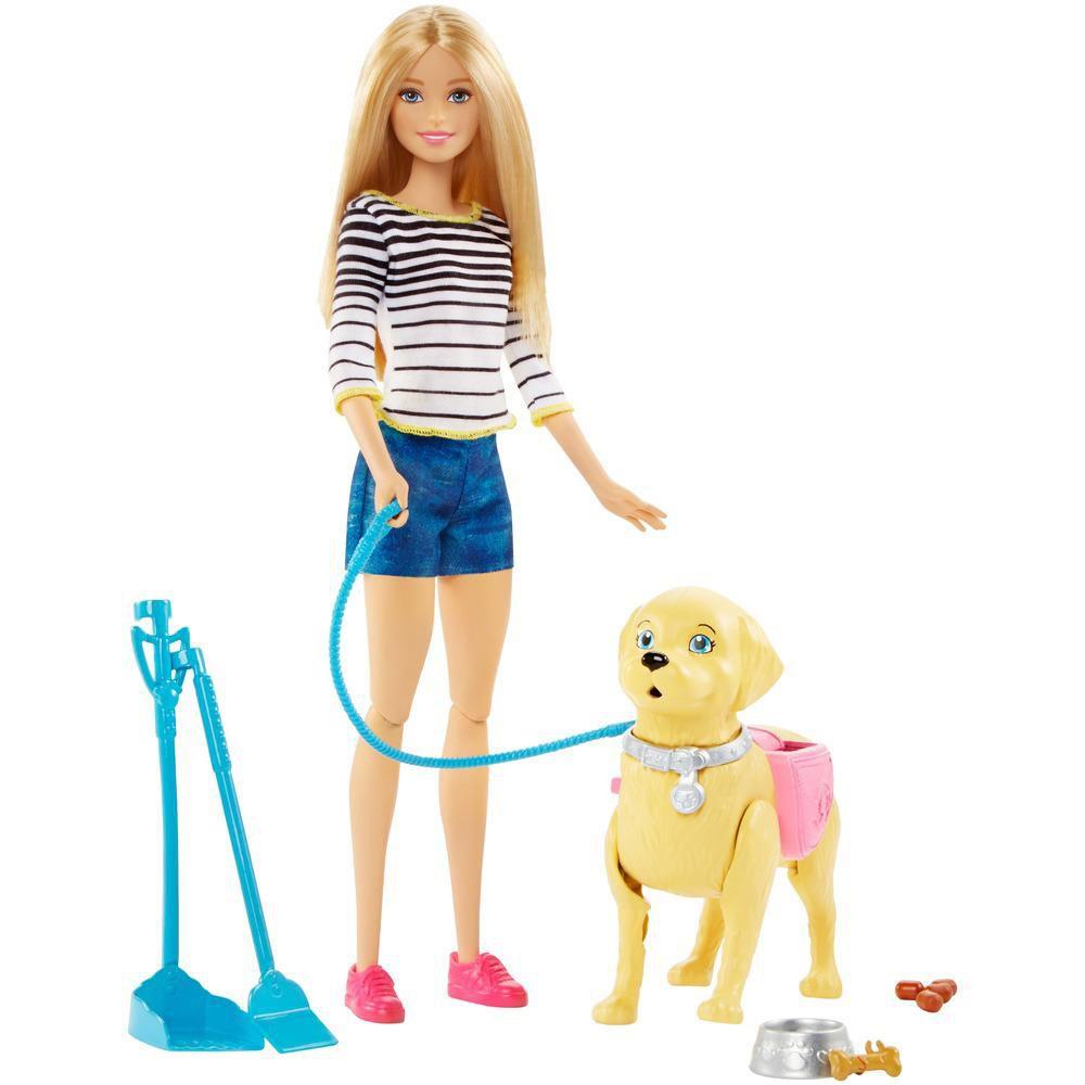Boneca Barbie Familia Passeio Com Cachorrinho Dwj68 Mattel