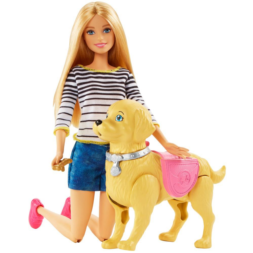 Boneca Barbie Família Passeio Com Cachorrinho DWJ68 Mattel