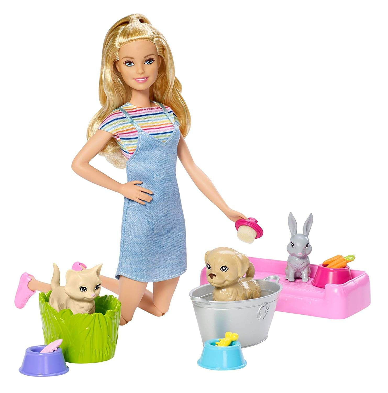 Boneca Barbie Family Banho De Cachorrinhos FXH11 Mattel