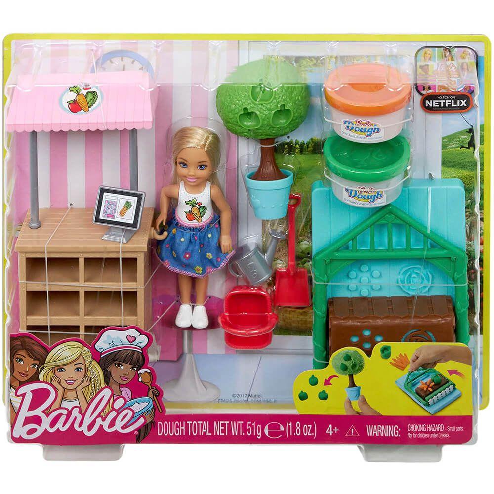 Boneca Barbie Horta Da Chelsea FRH75 Mattel
