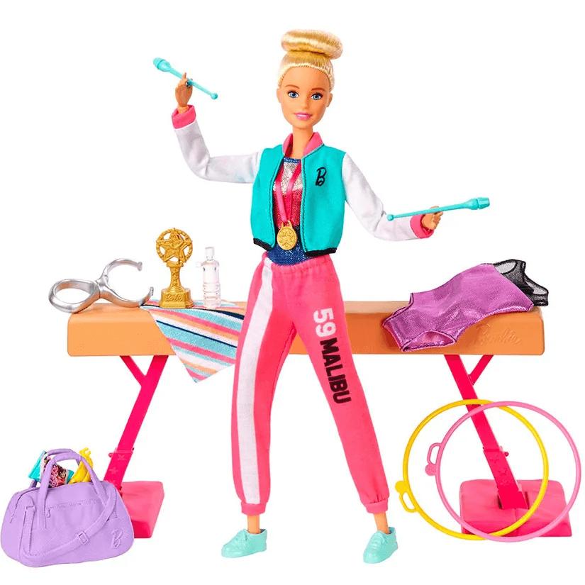 Boneca Barbie Playset Ginasta GJM72 Mattel