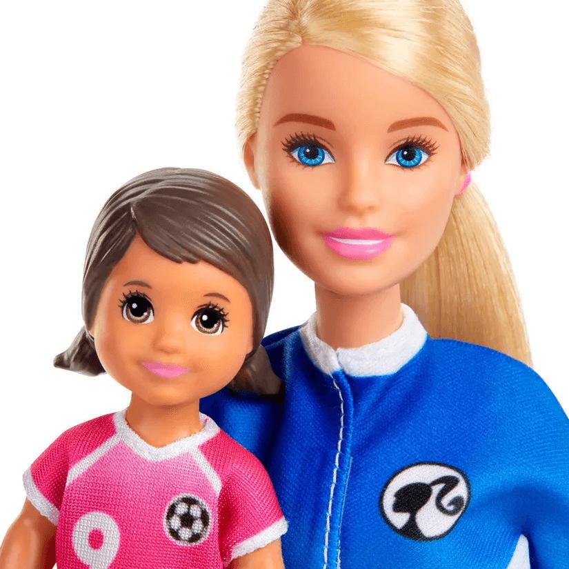 Boneca Barbie Playset Treinadora De Futebol GLM47 Mattel