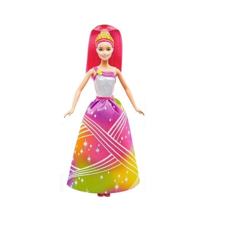 Boneca Barbie Princesa Luzes Arco Íris DRJ30 Mattel
