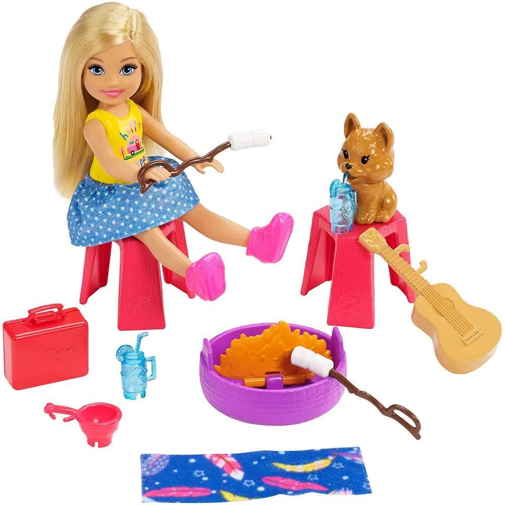 Boneca Barbie Trailer De Acampamento Da Chelsea FXG90 Mattel