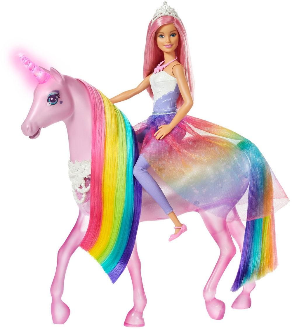 Boneca Barbie Unicórnio De Luzes Magicas FXT26 Mattel