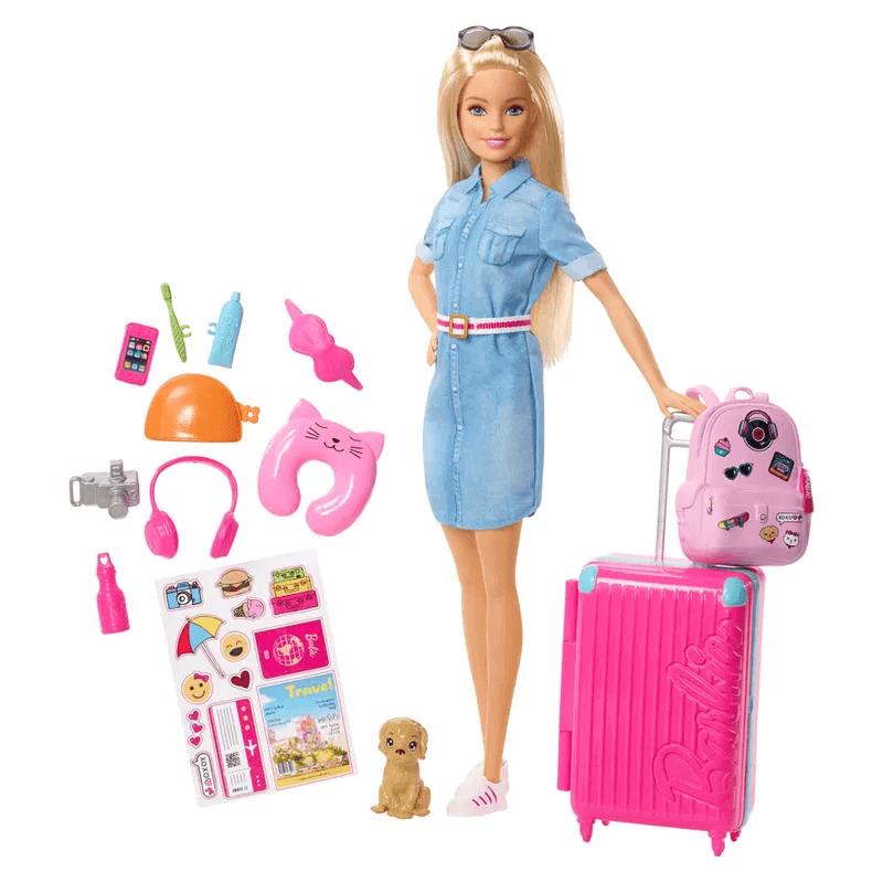 Boneca Barbie Viajante Explorar E Descobrir FWV25 Mattel