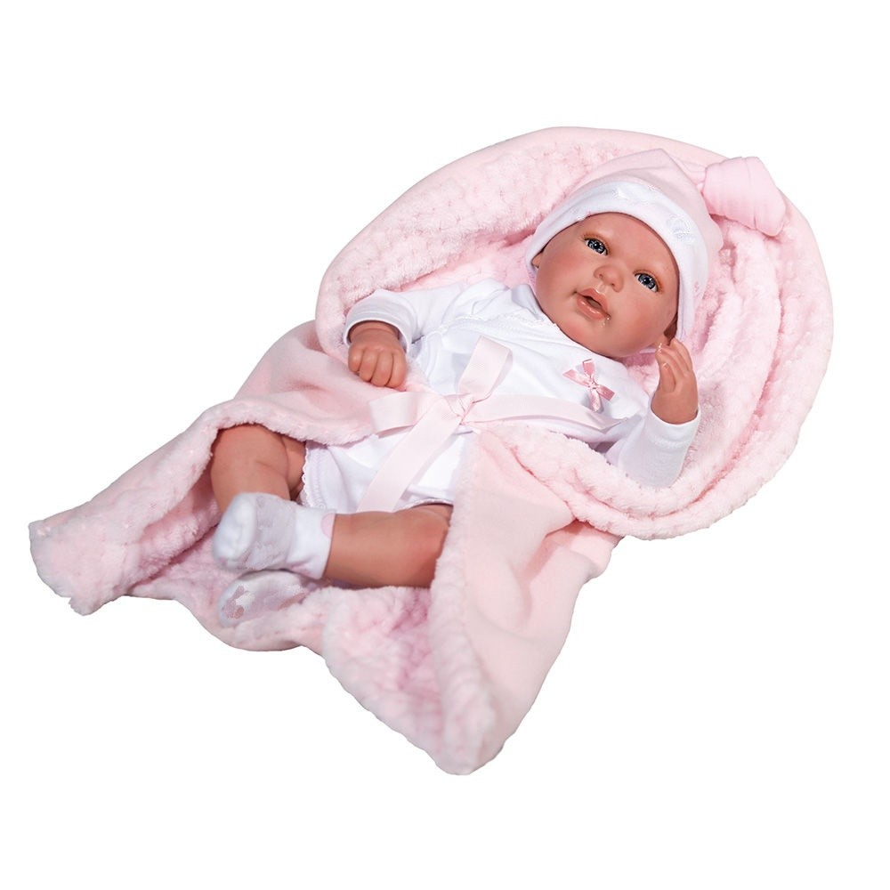 Boneca Bebê Reborn Olho Aberto 1267 Baby Brink