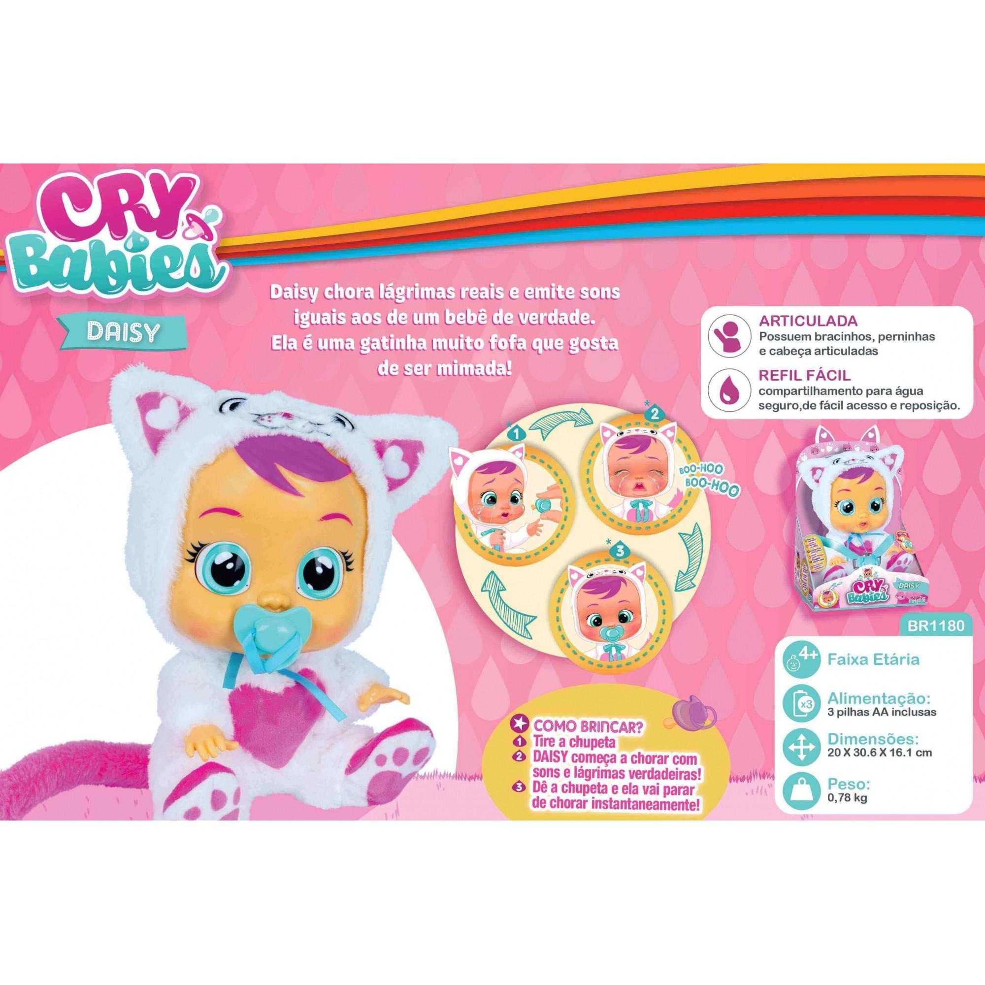 Boneca CryBabies Daisy BR1180 Multilaser