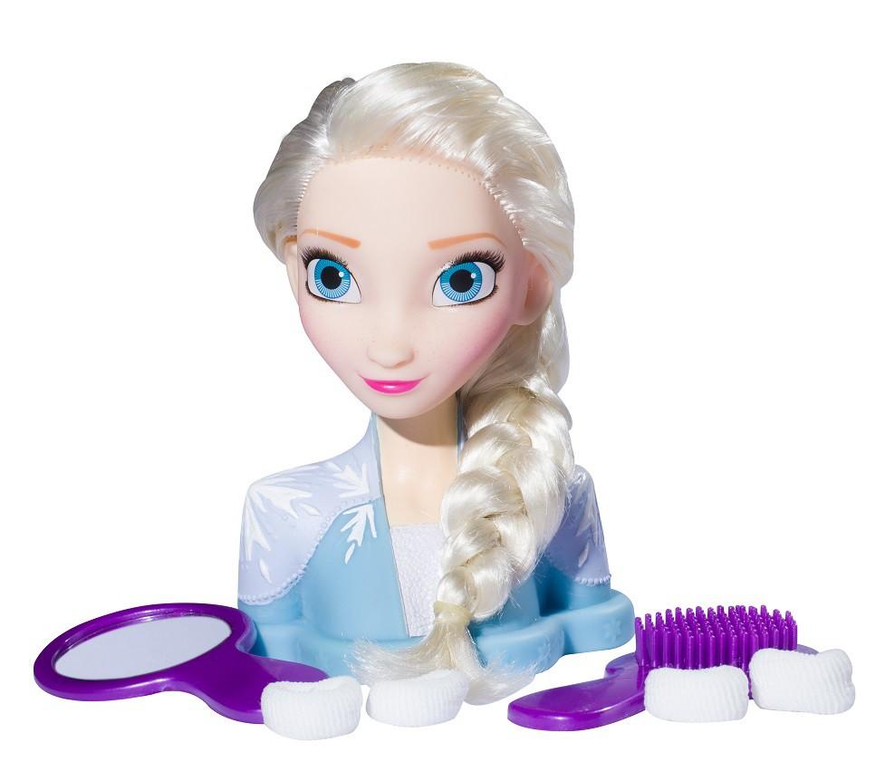Boneca Frozen Elsa Penteados Syling Head 2040 Baby Brink
