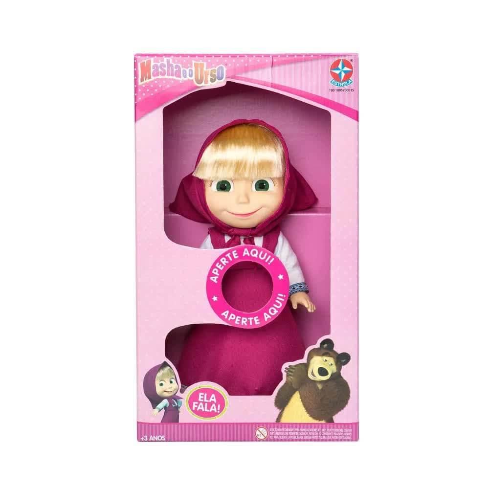 Boneca Masha Com Som  35 Centímetros Estrela