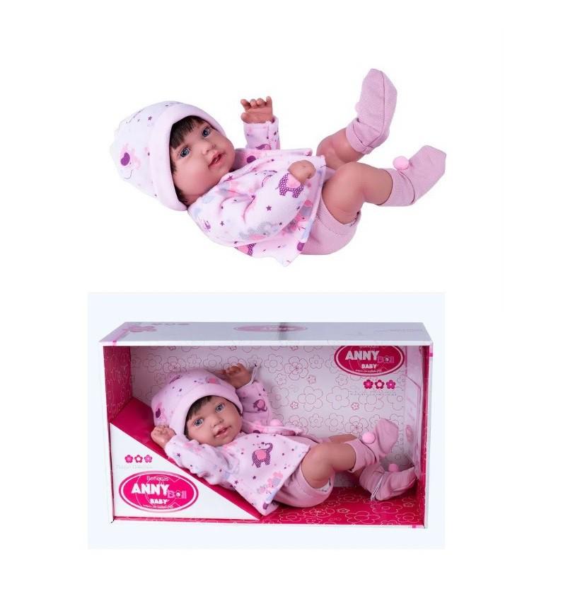 Boneca Reborn Collection Anny Doll Baby Menina 2441 Cotiplás