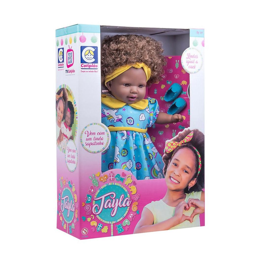 Boneca Tayla Cabelo Castanho 2281 Cotiplás