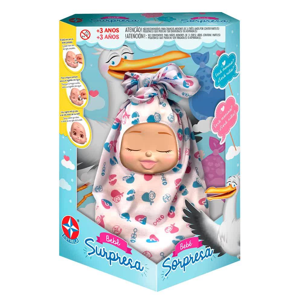 Boneco Bebê Surpresa Estrela