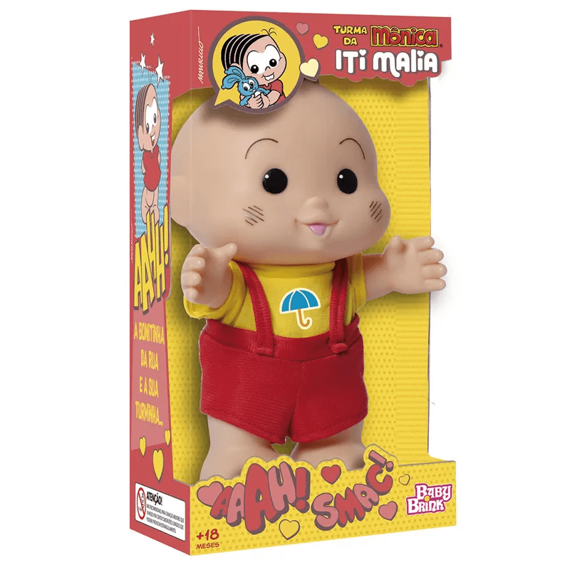 Boneco Cascão Iti Malia 1023 Baby Brink