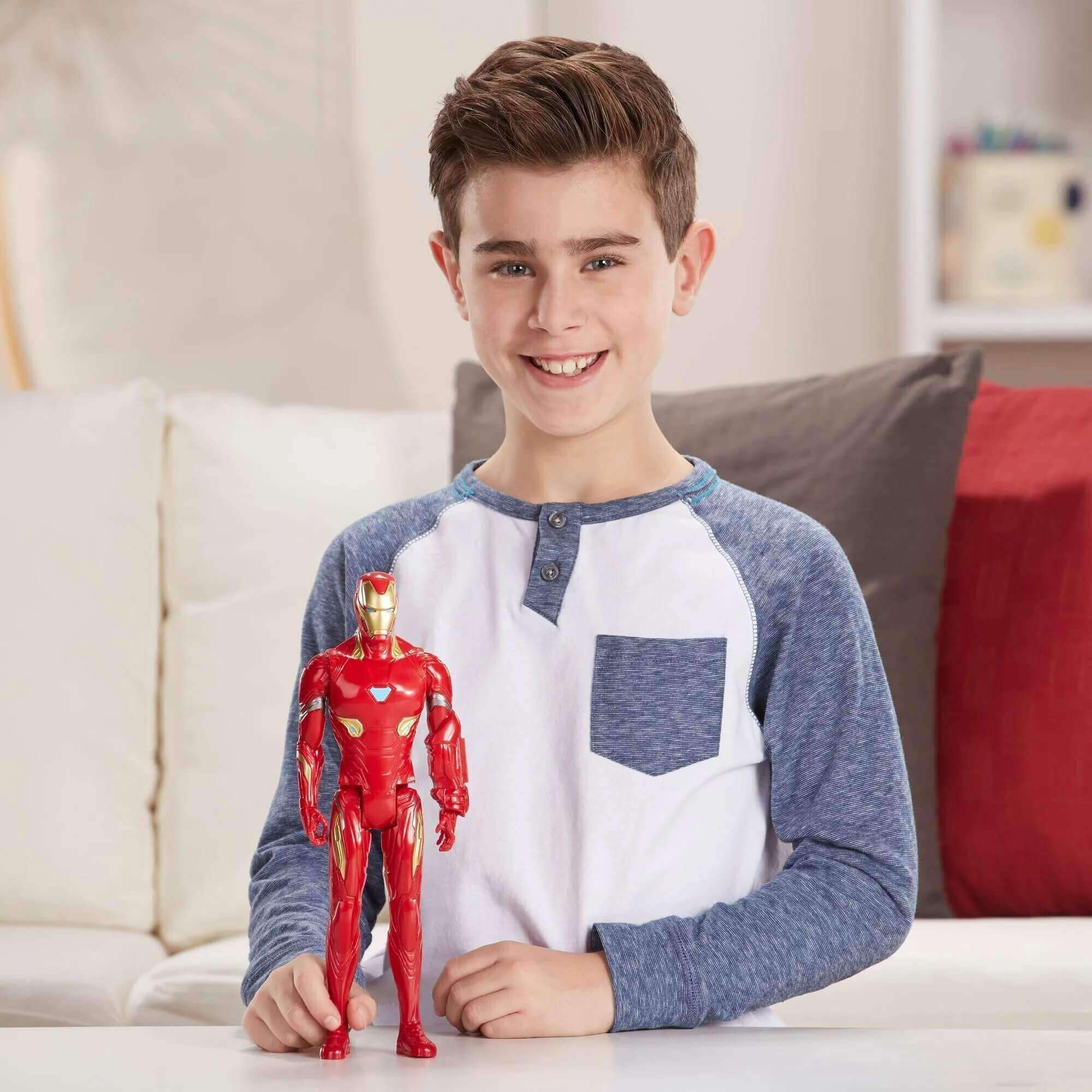 Boneco Homem De Ferro Titan Avengers 30cm E3918 Habro
