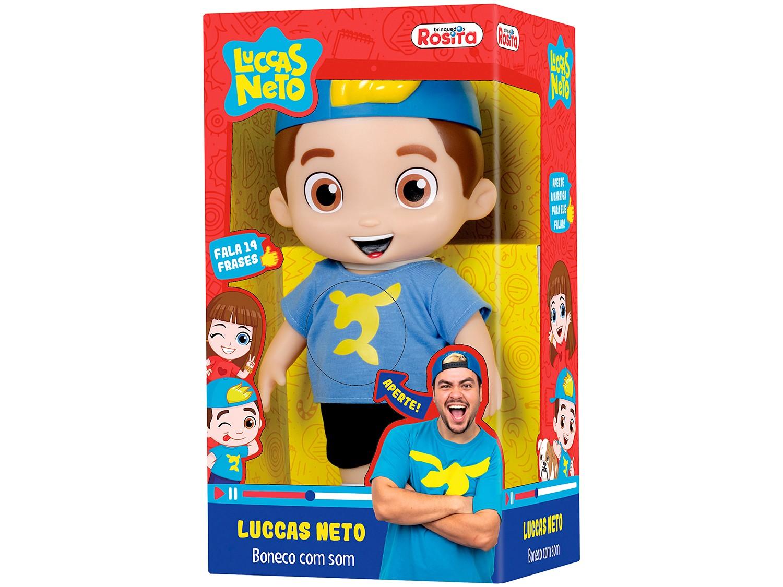 Boneco Luccas Neto Com Som 14 Frases 1070 Baby Brink