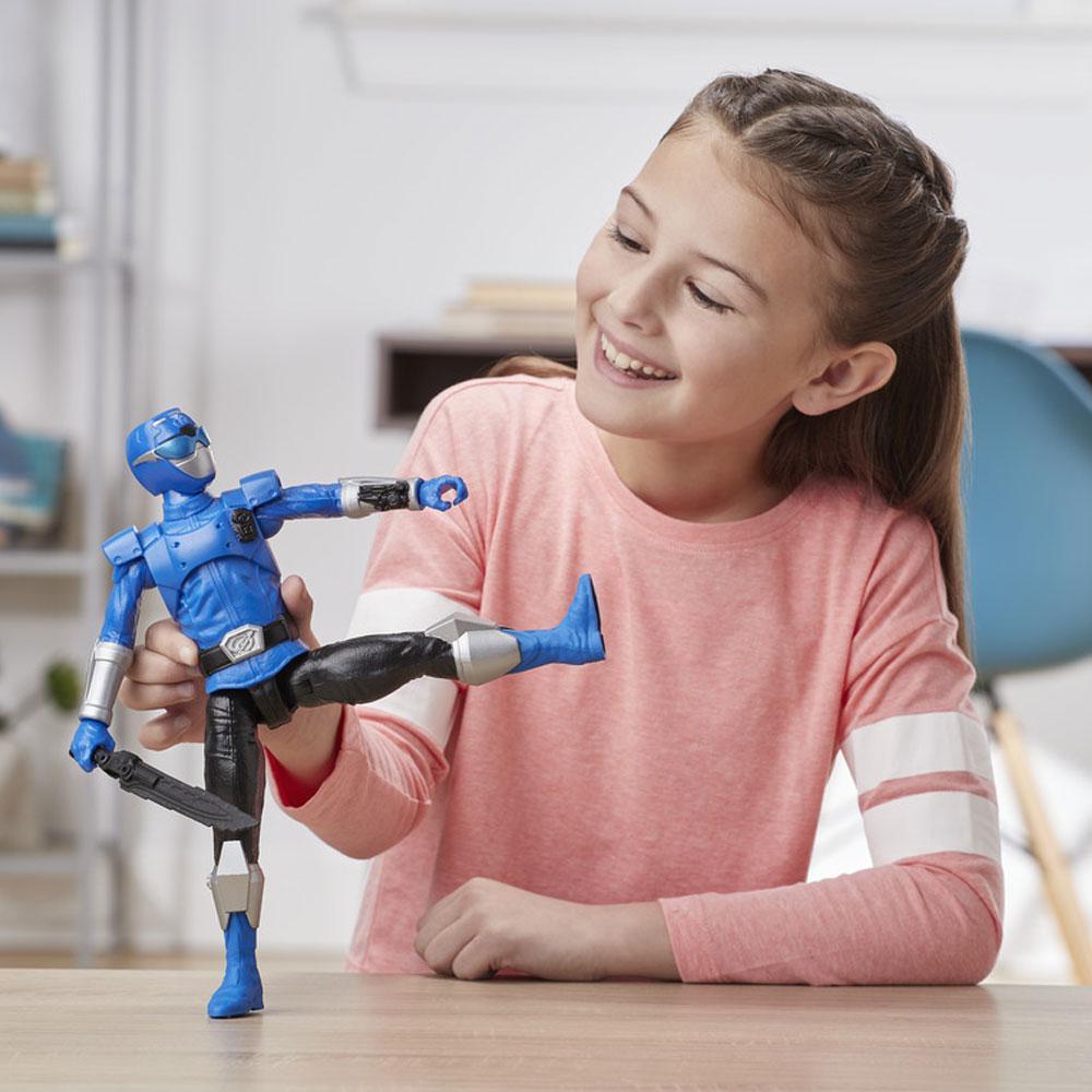 Boneco Power Rangers Azul 30 Centímetros E7803 Hasbro