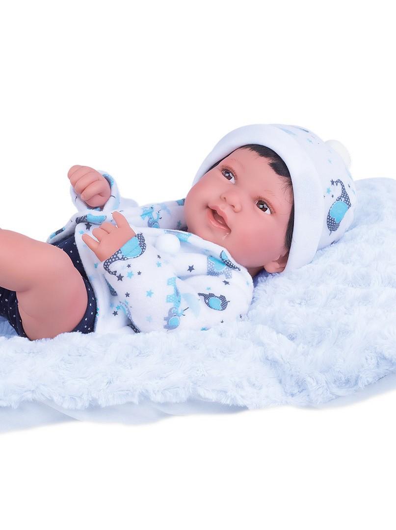 Boneco Reborn Collection Anny Doll Baby Menino 2440 Cotiplás