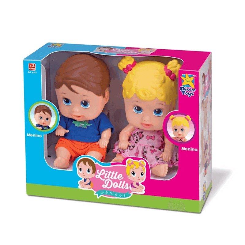 Bonecos Little Dolls Gêmeos 8037 Divertoys