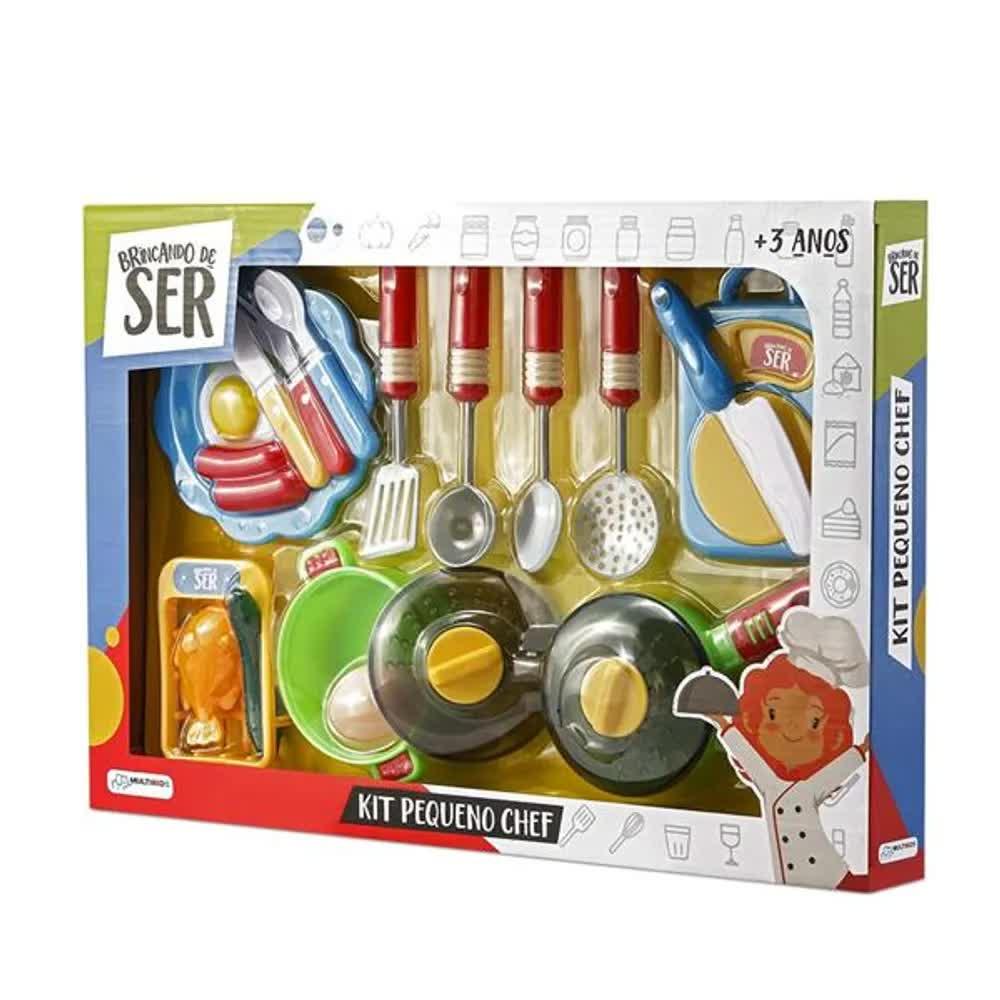 Brincando de Ser Kit Pequeno Chef com Acessórios BR954 Multilaser