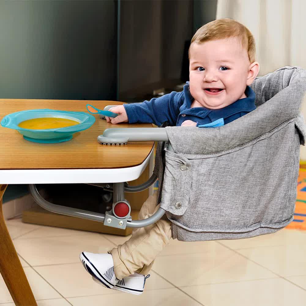 Cadeira De Alimentação De Encaixe Em Mesa Click'n Clip Cinza BB614 Multilaser