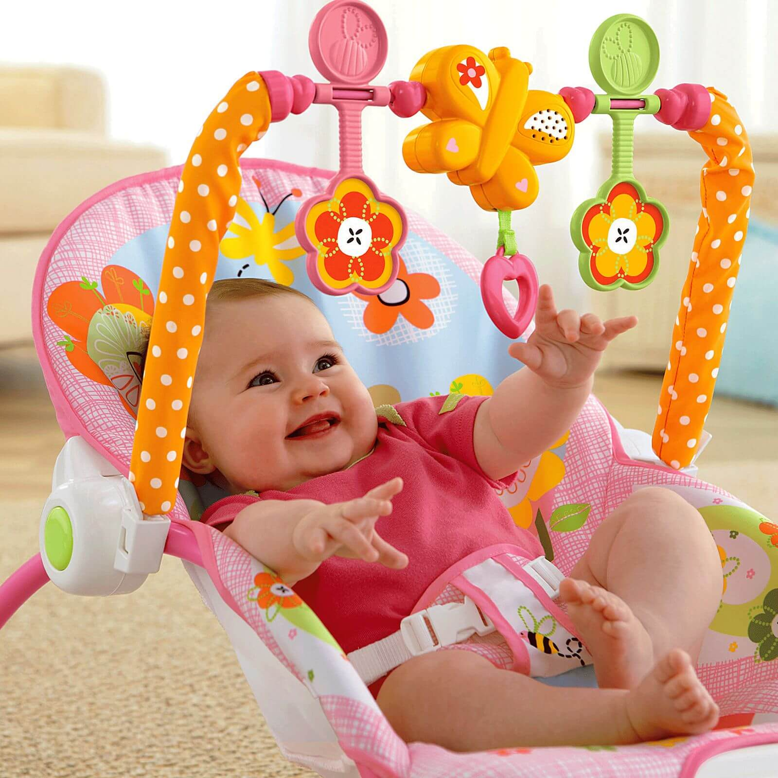 Cadeira De Balanço Minha Infância Meninas Y4544 Fisher Price