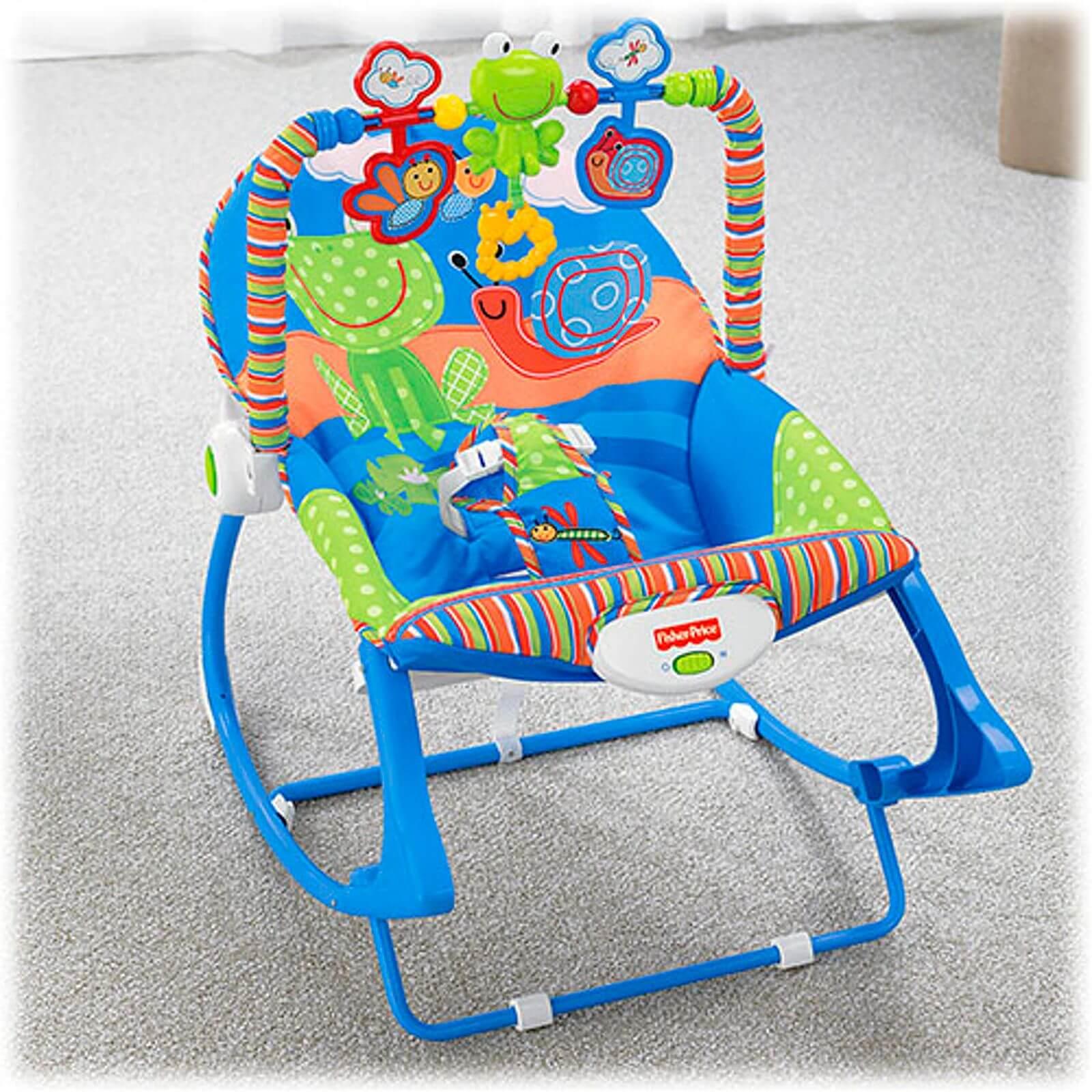 Cadeira de Balanço Minha Infância Sapinho X7033 Fisher Price