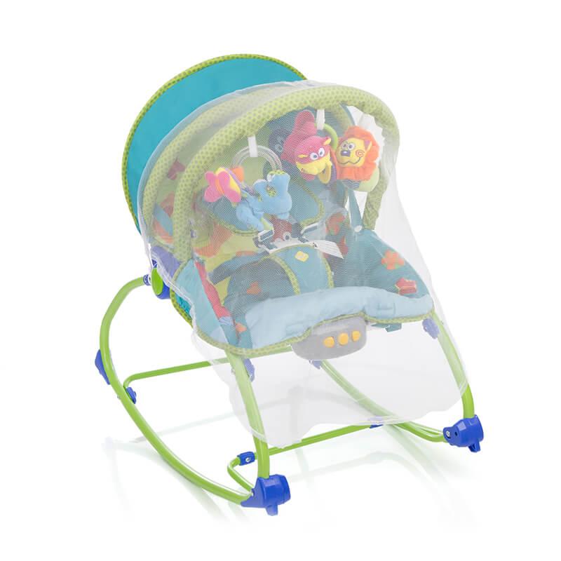 Cadeira De Descanso Bouncer Sunshine Baby Azul Safety