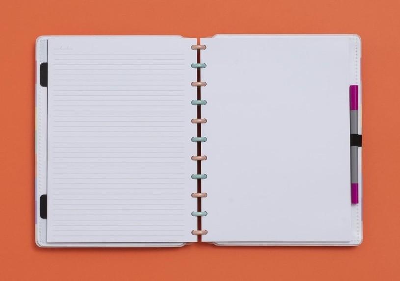 Caderno Arco-íris Pastel Grande Caderno Inteligente