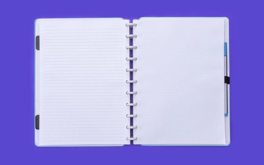 Caderno Azul Celeste Grande Caderno Inteligente