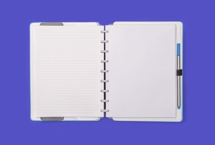 Caderno Azul Celeste Médio Caderno Inteligente