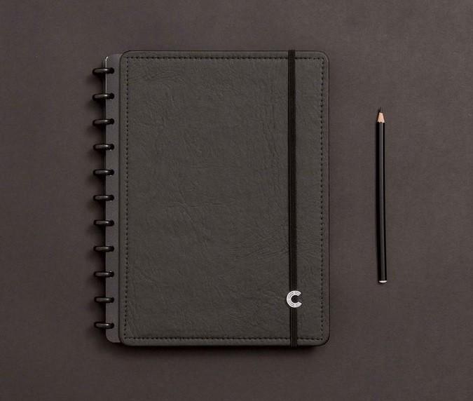 Caderno Black Ecológico Grande Caderno Inteligente
