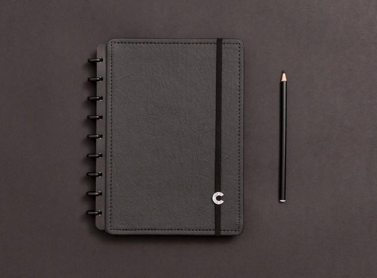 Caderno Black Ecológico Médio Caderno Inteligente