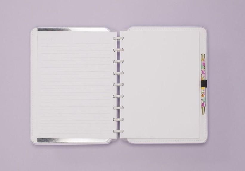 Caderno Lilás Pastel Médio Caderno Inteligente
