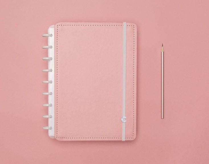 Caderno Rose Pastel Médio Caderno Inteligente