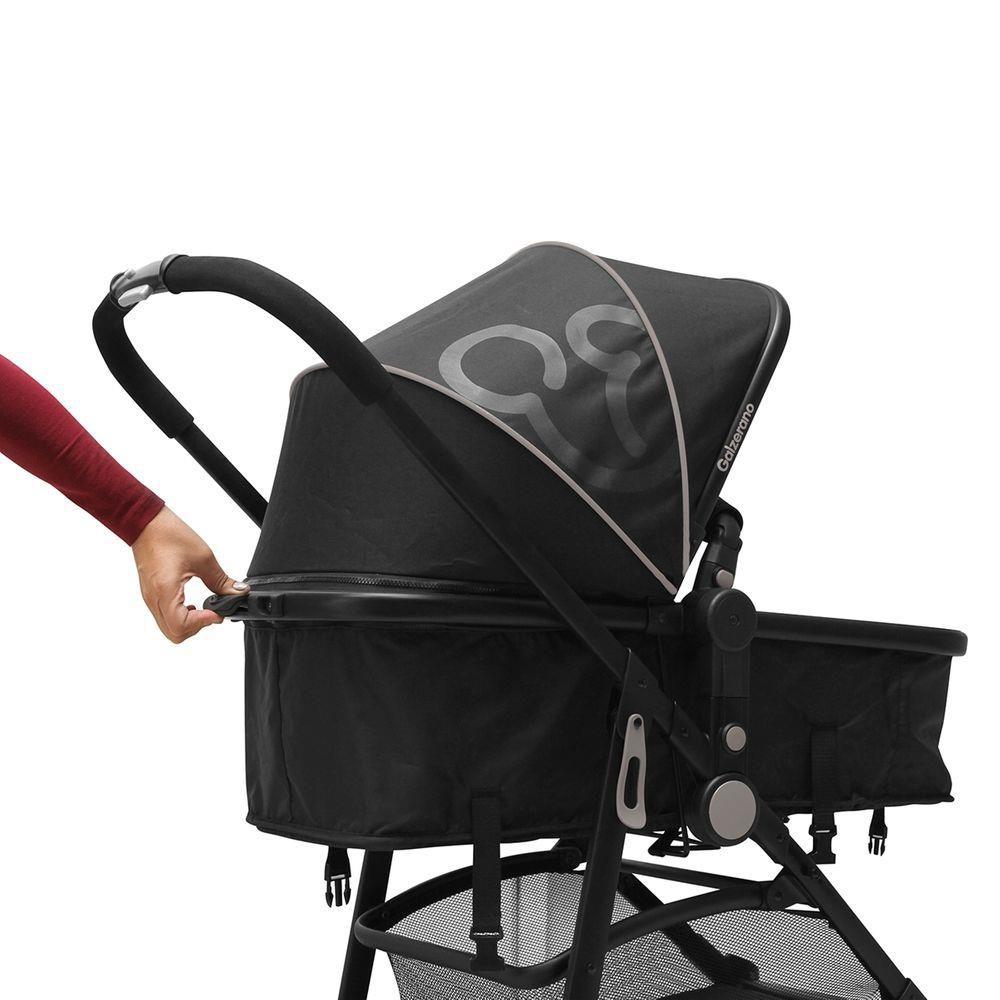 Carrinho De Bebê Berço E Passeio Gero Preto Galzerano