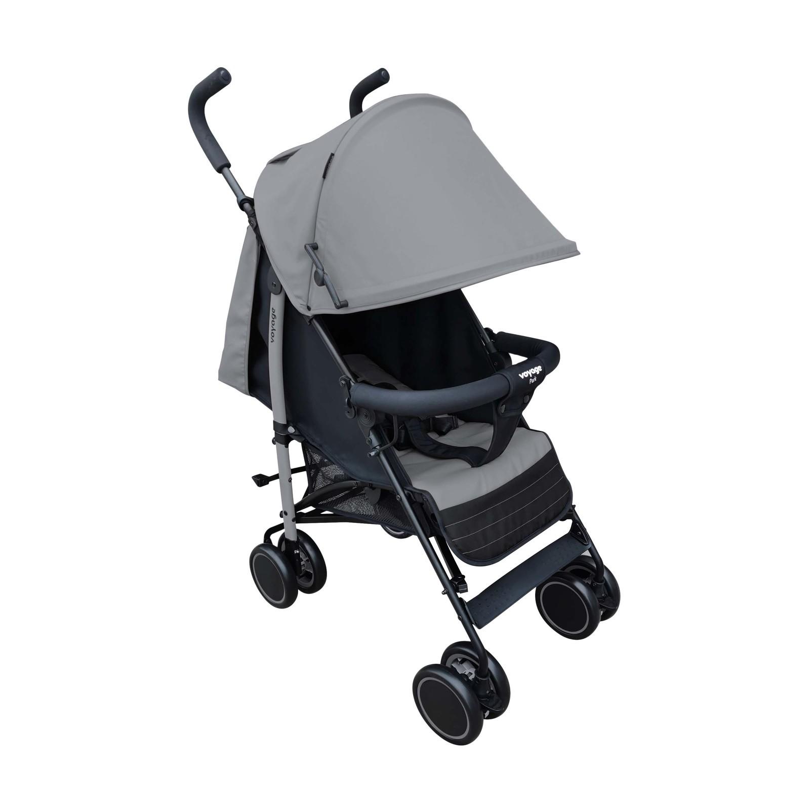 Carrinho De Bebê Berço E Passeio Park Cinza Voyage