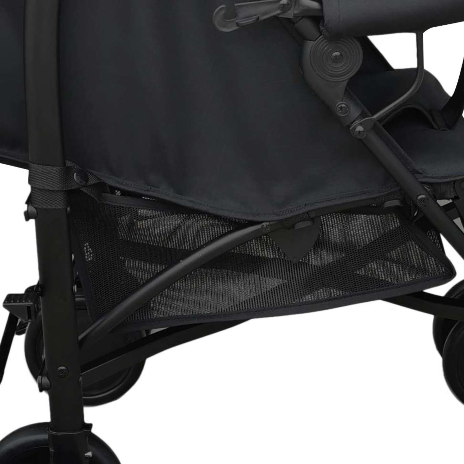 Carrinho De Bebê Berço E Passeio Park Preto Voyage