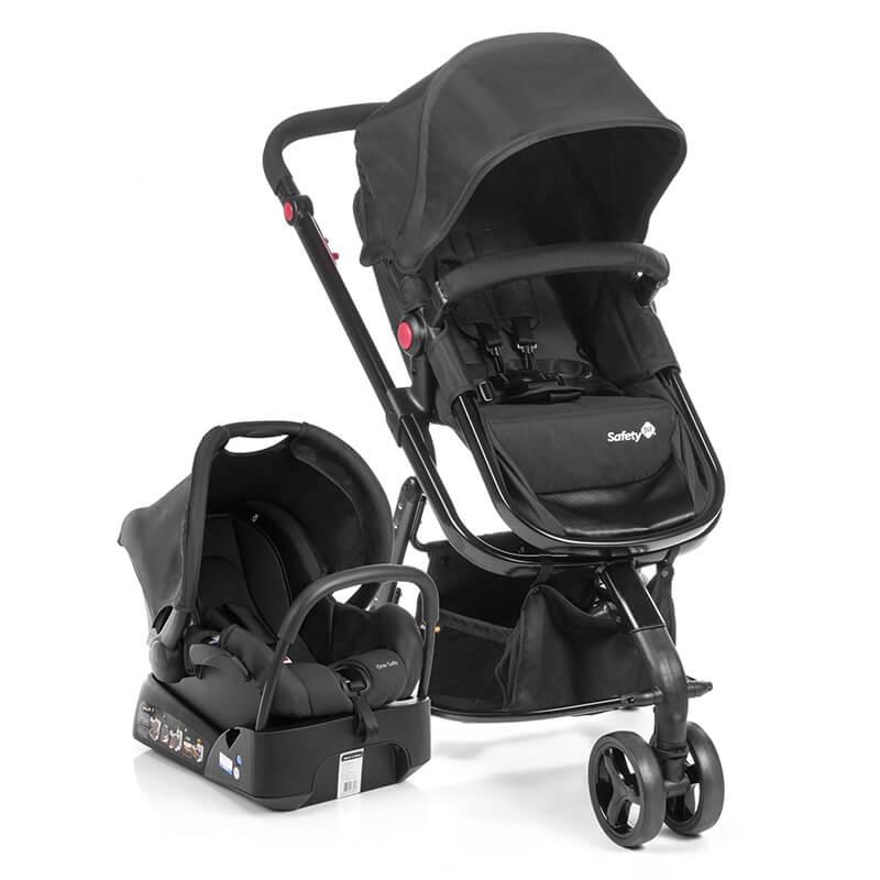 Carrinho De Bebê Travel System Mobi Full Black Safety