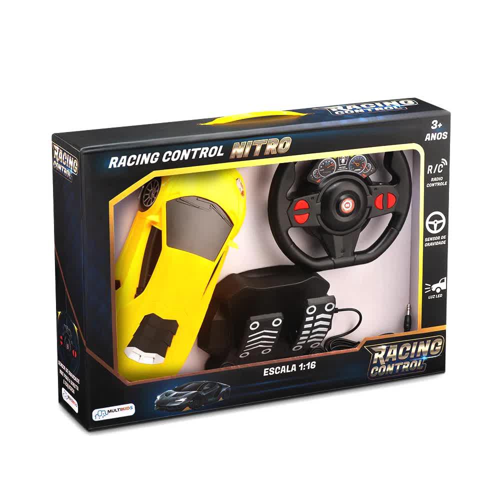 Carrinho De Controle Racing Control Nitro Amarelo BR1145 Multilaser