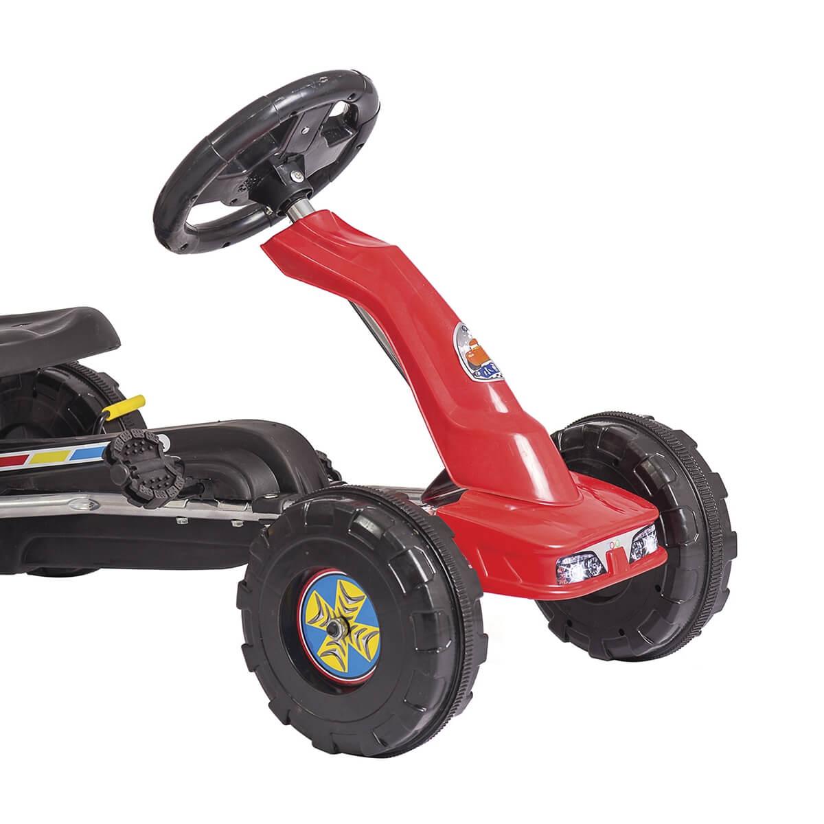 Carrinho Mini Kart Com Pedal Vermelho 1350 Unitoys