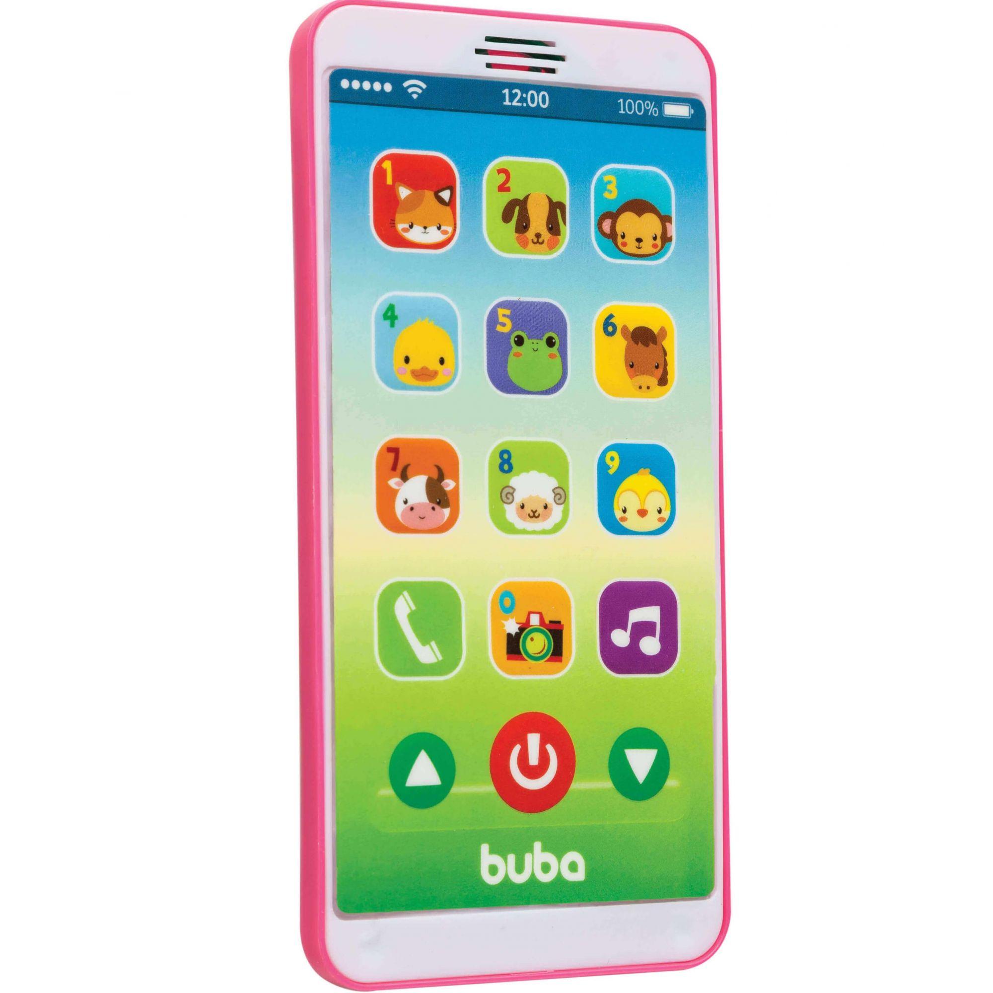 Celular Infantil Baby Phone Rosa 6842 Buba