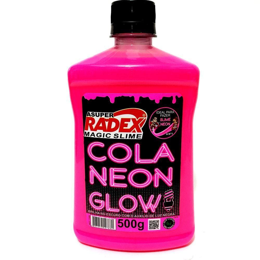 Cola Neon Glow Rosa 500 G Radex