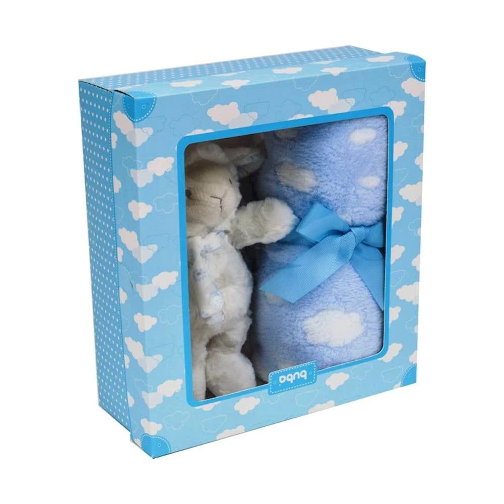 Conjunto Manta E Pelúcia Gift Ovelhinha Dos Sonhos Azul Buba