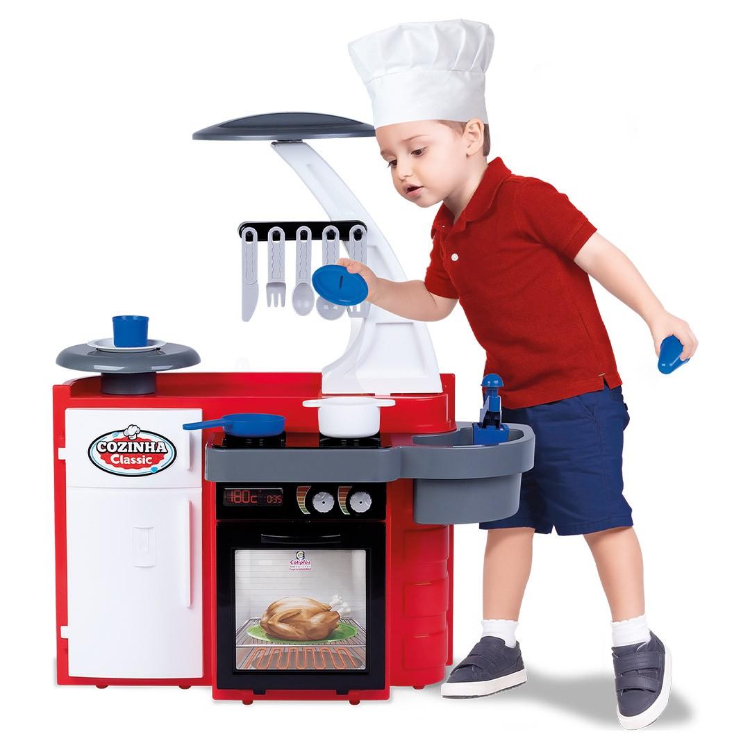 Cozinha Classic Infantil Com Acessórios Vermelha Cotiplás