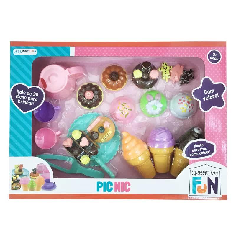 Creative Fun Pic-Nic Com Velcro BR650 Multilaser