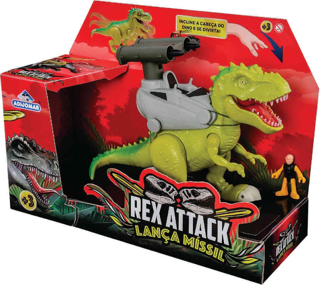 Dinossauro Rex Attack Lança Míssil 863 Adijomar