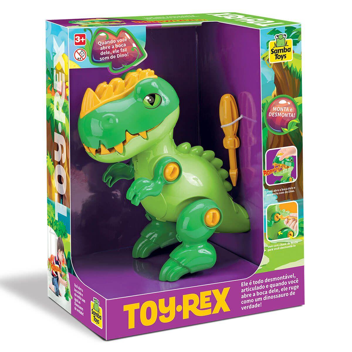 Dinossauro Toy Rex Desmontável E Com Som 0229 Samba Toys